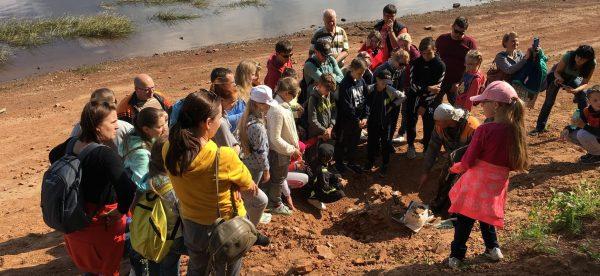 Экскурсия берег раскоп